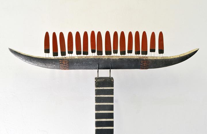 2001   Barque   keramiek/koper   142x92x10 cm